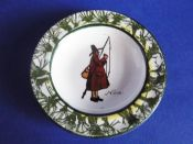 Royal Doulton Isaac Walton Ware 'Gallant Fishers' Pin Tray D2312 c1910